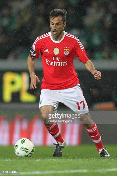 Benfica's forward Jonas during the match between Sporting CP and SL Benfica for the Portuguese Primeira Liga at Jose Alvalade Stadium on March 05...