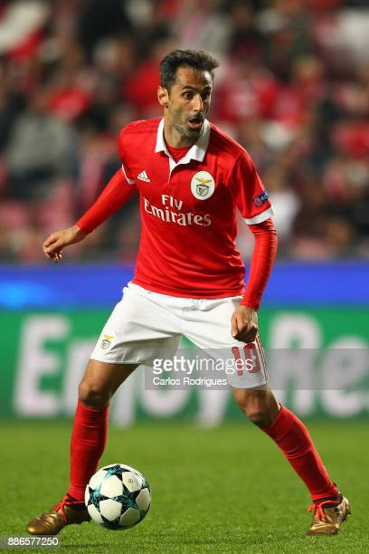 Benfica's forward Jonas from Brasil during SL Benfica v FC Basel UEFA Champions League round six match at Estadio da Luz on December 05 2017 in...