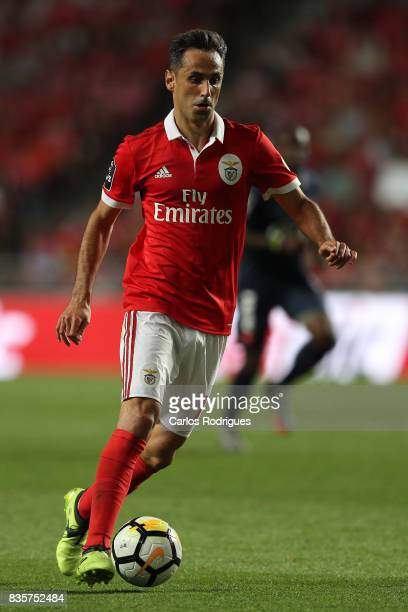 Benfica's forward Jonas from Brasil during the match between SL Benfica and CF Belenenses for the third round of the Portuguese Primeira Liga at...