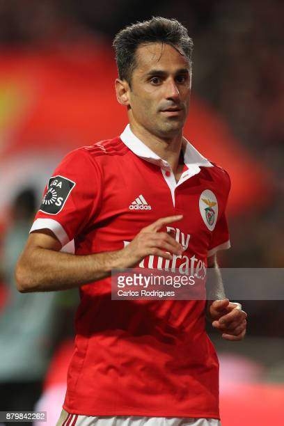 Benfica's forward Jonas from Brasil during the match between SL Benfica and FC Vitoria Setubal for the Portuguese Primeira Liga at Estadio da Luz on...