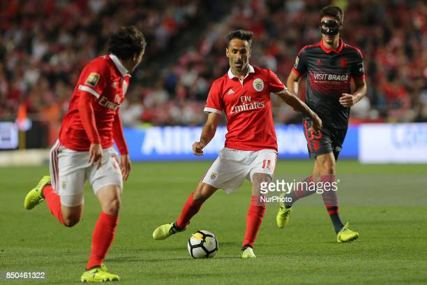 Benficas forward Jonas from Brazil during the Portuguese Cup 2017/18 match between SL Benfica v SC Braga at Luz Stadium in Lisbon on September 20 2017
