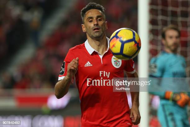 Benficas forward Jonas from Brazil during the Premier League 2017/18 match between SL Benfica v GD Chaves at Luz Stadium in Lisbon on January 20 2018
