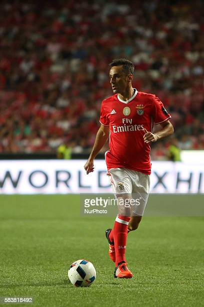 Benfica's forward Jonas in action during the Eusebio Cup football match between SL Benfica and Torino FC at the Luz stadium in Lisbon Portugal on...