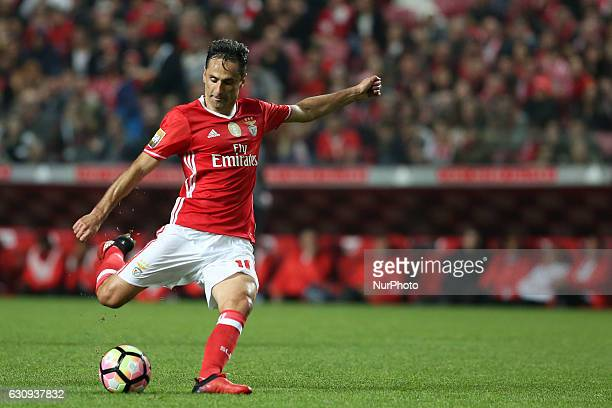 Benfica's forward Jonas in action during the Portuguese League Cup football match SL Benfica vs FC Vizela at the Luz stadium in Lisbon Portugal on...