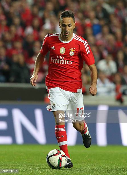 Benfica's forward Jonas in action during the Primeira Liga match between SL Benfica and Rio Ave FC at Estadio da Luz on December 20 2015 in Lisbon...