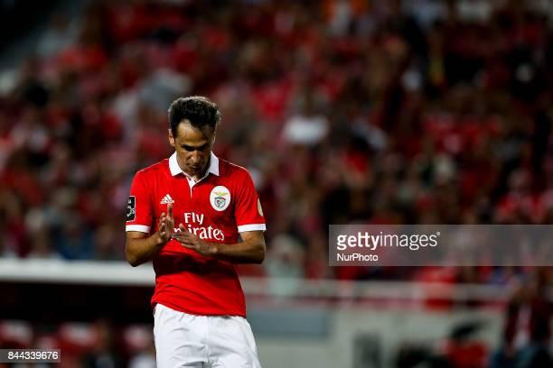 Benfica's forward Jonas reacts during Primeira Liga 2017/18 match between SL Benfica vs Portimonense SC in Lisbon on September 8 2017