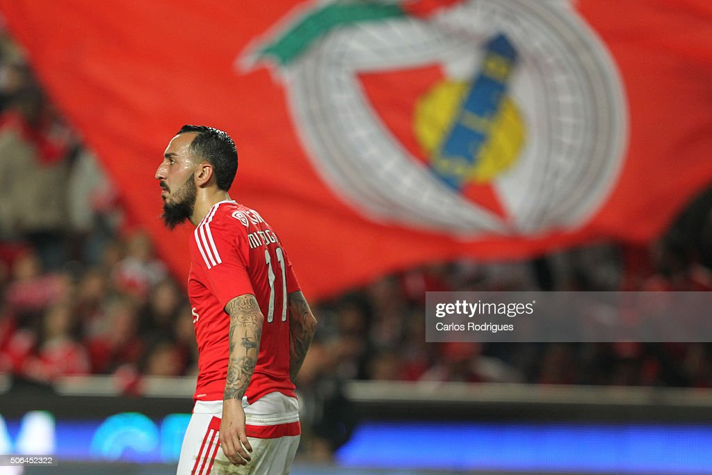 Benfica's forward Kostas Mitroglou during the match between SL Benfica and FC Arouca at Estadio da Luz on January 23, 2016 in Lisbon, Portugal.