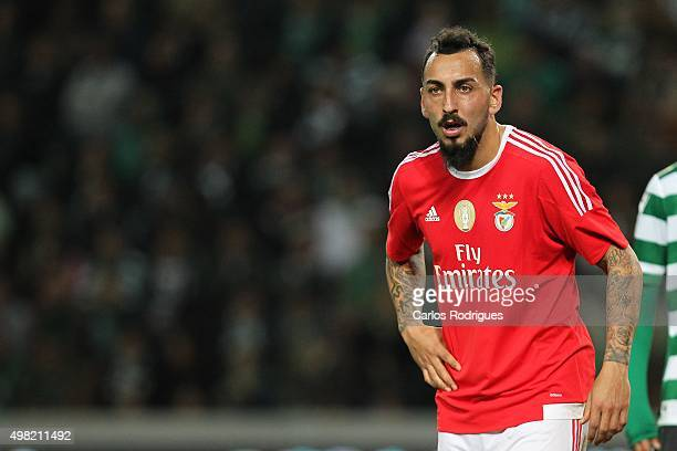 Benfica's forward Kostas Mitroglou during the match between Sporting CP and SL Benfica for the Portuguese Cup at Jose Alvalade Stadium on November 21...