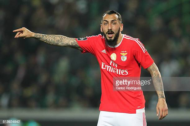 Benfica's forward Kostas Mitroglou during the match between Sporting CP and SL Benfica for the Portuguese Primeira Liga at Jose Alvalade Stadium on...