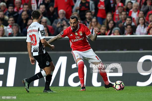 Benfica's forward Kostas Mitroglou from Greece during the match between SL Benfica and Boavista FC for the Portuguese Primeira Liga at Estadio da Luz...
