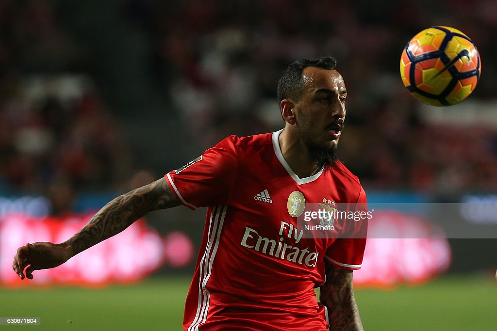 Benficas forward Kostas Mitroglou from Greece during the Portuguese Cup 2016/17 match between SL Benfica v FC Pacos Ferreira, at Luz Stadium in Lisbon on December 29, 2016.