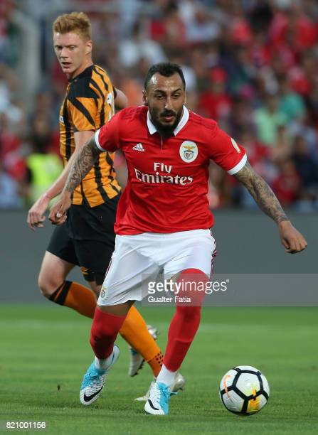 Benfica's forward Kostas Mitroglou from Greece in action during the Algarve Cup match between SL Benfica and Hull City at Estadio Algarve on July 22...