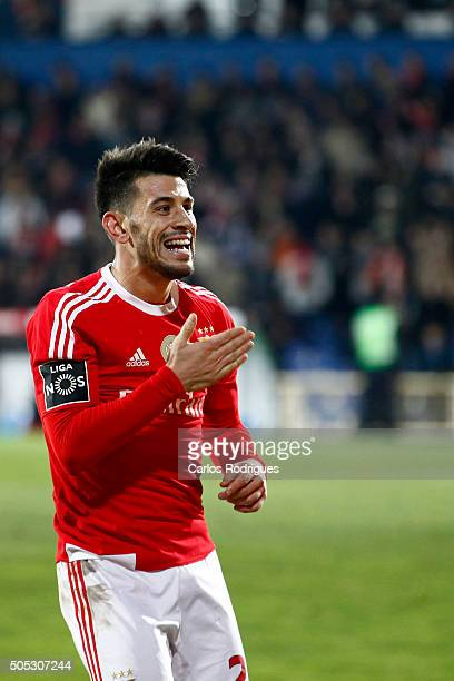 Benfica's forward Pizzi celebrates scoring Benfica«s second goal during the match between GD Estoril and SL Benfica for the Portuguese Primeira Liga...