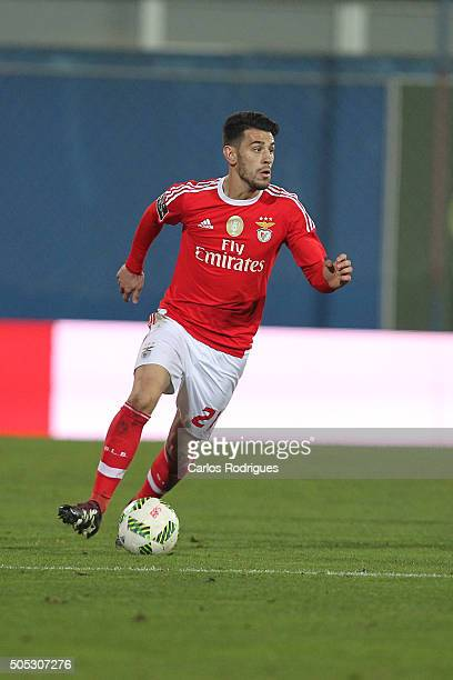 Benfica's forward Pizzi during the match between GD Estoril and SL Benfica for the Portuguese Primeira Liga at Estadio da Luz on January 16 2016 in...