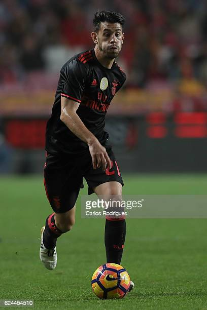 Benfica's forward Pizzi from Portugal during the SL Benfica v CS Maritimo Portuguese Cup round 4 match at Estadio da Luz on November 19 2016 in...