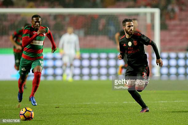 Benficas forward Rafa Silva from Portugal and Maritimo's midfielder Jean Cleber from Brazil during Portuguese Cup match between SL Benfica v CS...
