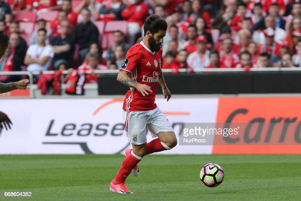 Benficas forward Rafa Silva from Portugal during the Premier League 2016/17 match between SL Benfica v Maritimo M at Luz Stadium in Lisbon on April...