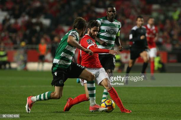 Benficas forward Rafa Silva from Portugal during the Premier League 2017/18 match between SL Benfica v Sporting CP at Luz Stadium in Lisbon on...