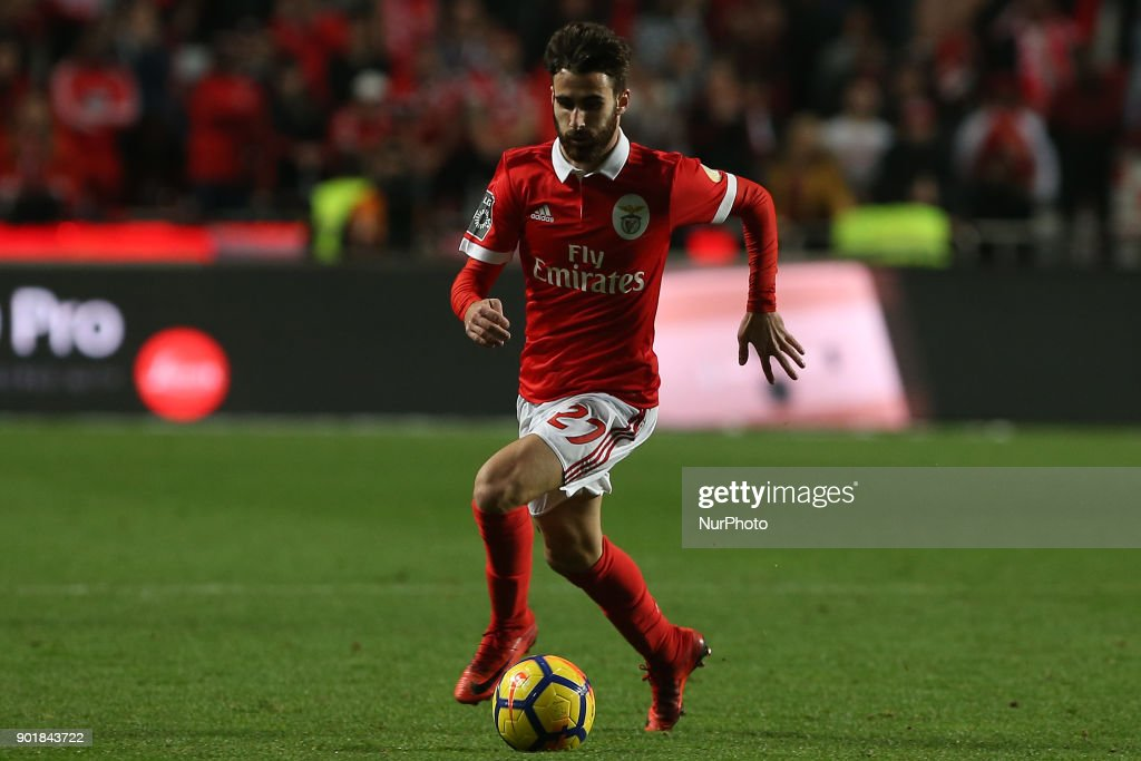 Benficas forward Rafa Silva from Portugal during the Premier League 2017/18 match between SL Benfica v Sporting CP, at Luz Stadium in Lisbon on January 3, 2018.