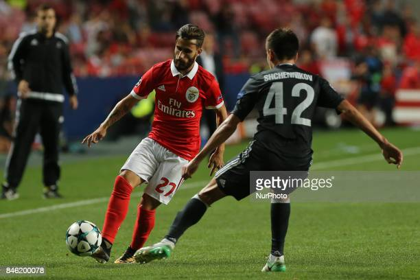 Benficas forward Rafa Silva from Portugal during the SL Benfica v CSKA Moskva UEFA Champions League round one match at Estadio da Luz on September 12...