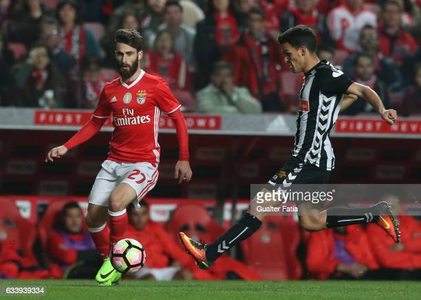 Benfica's forward Rafa Silva with Nacional's midfielder Jota from Portugal in action during the Primeira Liga match between SL Benfica and CD...