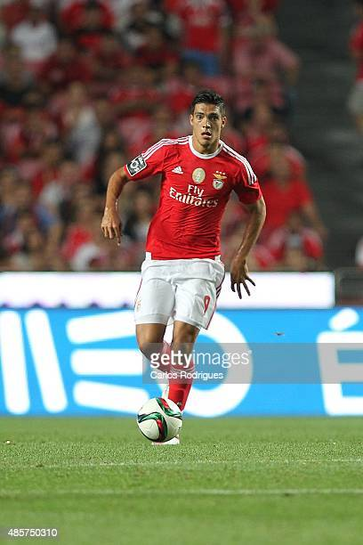 Benfica's forward Raul Jimenez during the match between SL Benfica and Moreirense FC at Estadio da Luz on August 29 2015 in Lisbon Portugal