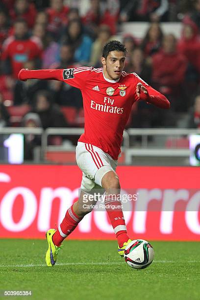 Benfica's forward Raul Jimenez during the match between SL Benfica and CS Maritimo at Estadio da Luz on January 6 2015 in Lisbon Portugal