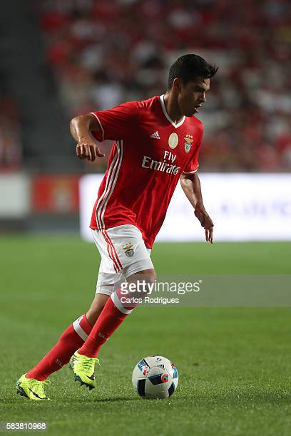 Benfica's forward Raul Jimenez during the match between SL Benfica and Torino for the Eusebio Cup at Estadio da Luz on July 27 2016 in Lisbon Portugal
