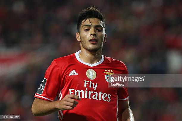 Benficas forward Raul Jimenez from Mexico during Premier League 2016/17 match between SL Benfica and Moreirense FC at Estadio da Luz in Lisbon on...