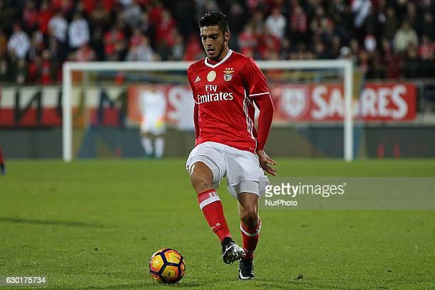 Benficas forward Raul Jimenez from Mexico during Premier League 2016/17 match between SL Benfica and Estoril Praia SAD at Estadio Antonio Coimbra da...