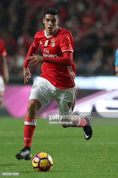 Benfica's forward Raul Jimenez from Mexico during the match between SL Benfica v Rio Ave FC for the Portuguese Primeira Liga at Estadio da Luz on...