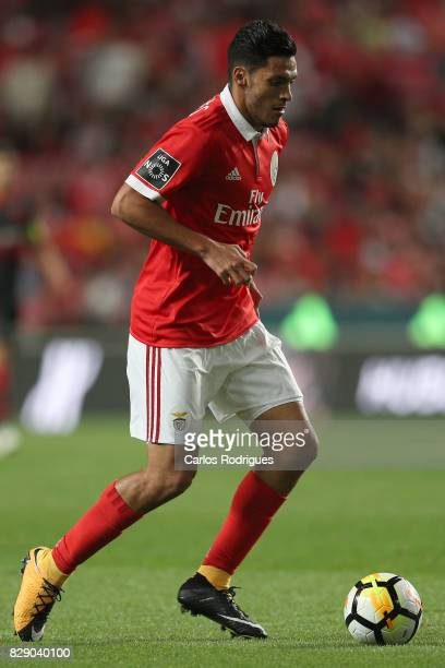 Benfica's forward Raul Jimenez from Mexico during the match between SL Benfica and SC Braga for the fruit round of the Portuguese Primeira Liga at...