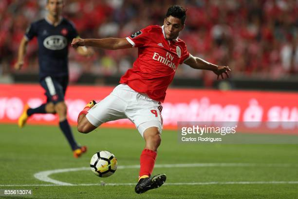 Benfica's forward Raul Jimenez from Mexico during the match between SL Benfica and CF Belenenses for the third round of the Portuguese Primeira Liga...
