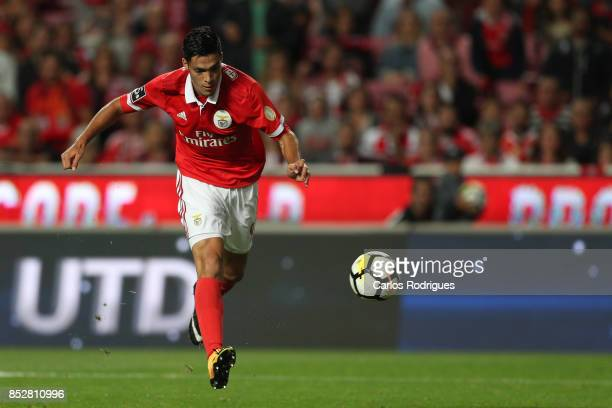 Benfica's forward Raul Jimenez from Mexico during the match between SL Benfica and FC Paco de Ferreira for the round seven of the Portuguese Primeira...