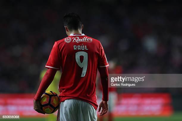 Benfica's forward Raul Jimenez from Mexico during the SL Benfica v FC Pacos de Ferreira Portuguese Cup at Estadio da Luz on December 29 2016 in...