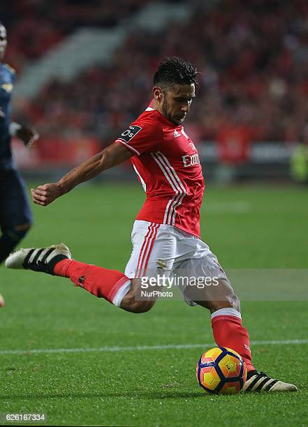 Benficas forward Toto Salvio from Argentina during Premier League 2016/17 match between SL Benfica and Moreirense FC at Estadio da Luz in Lisbon on...