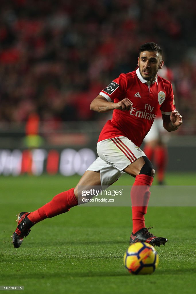 Benfica's forward Toto Salvio from Argentina during the match between SL Benfica and GD Chaves for the Portuguese Primeira Liga at Estadio da Luz on January 20, 2018 in Lisbon, Portugal.
