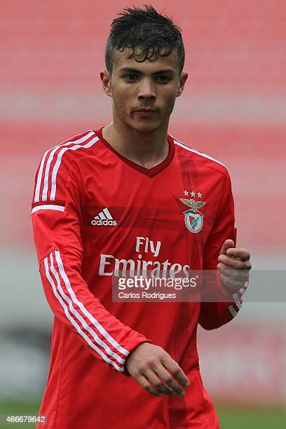 Benfica's foward Diogo Goncalves during the UEFA Youth League Quarter Final between SL Benfica and Shakhtar Donetsk at Caixa Futebol Campus on March...