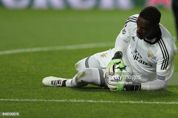 Benfica's goalkeeper Bruno Varela from Portugal during SL Benfica v CSKA Moskva UEFA Champions League round one match at Estadio da Luz on September...