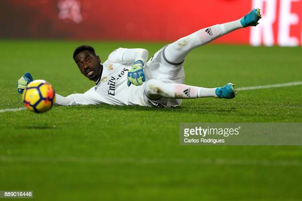 Benfica's goalkeeper Bruno Varela from Portugal during the match between SL Benfica and Estoril Praia SAD for the Portuguese Primeira Liga at Estadio...