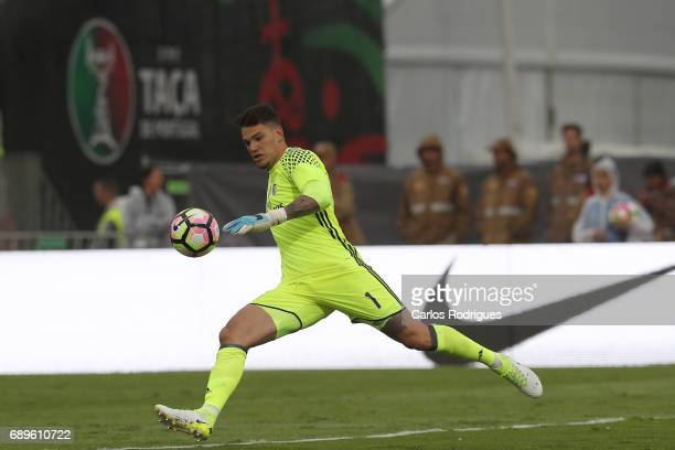 Benfica's goalkeeper Ederson Moares from Brasil during the match between SL Benfica and Vitoria SC for the Portuguese Cup Final at Estadio Nacional...