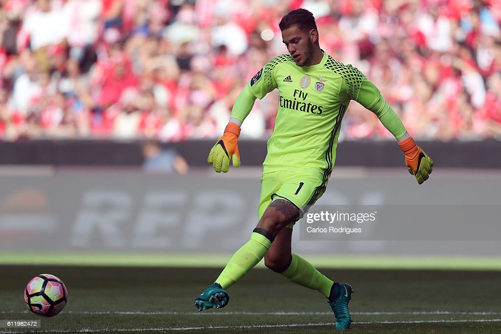 SL Benfica's goalkeeper from Brazil Ederson during the SL Benfica v CD Feirense - Primeira Liga match at Estadio da Luz on October 02, 2016 in Lisbon, Portugal.