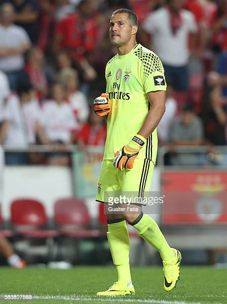 Benfica's goalkeeper from Brazil Julio Cesar in action during the Eusebio Cup match between SL Benfica and Torino at Estadio da Luz on July 27 2016...