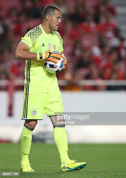 BenficaÕs goalkeeper from Brazil Julio Cesar in action during the Eusebio Cup match between SL Benfica and Torino at Estadio da Luz on July 27 2016...