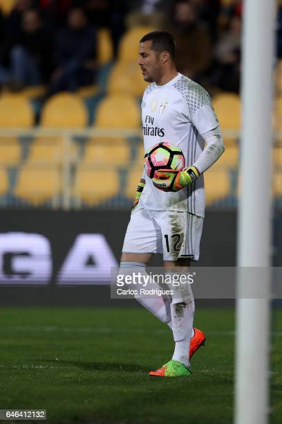 Benfica's goalkeeper Julio Cesar from Brasil during the match between Estoril Praia SAD and SL Benfica for the Portuguese Cup at Estadio Antonio...