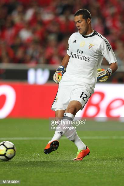 Benfica's goalkeeper Julio Cesar from Brasil during the match between SL Benfica and FC Paco de Ferreira for the round seven of the Portuguese...