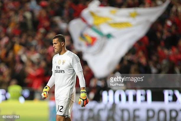 Benficas goalkeeper Julio Cesar from Brazil during Portuguese Cup match between SL Benfica v CS Maritimo at Luz Stadium in Lisbon on November 19 2016