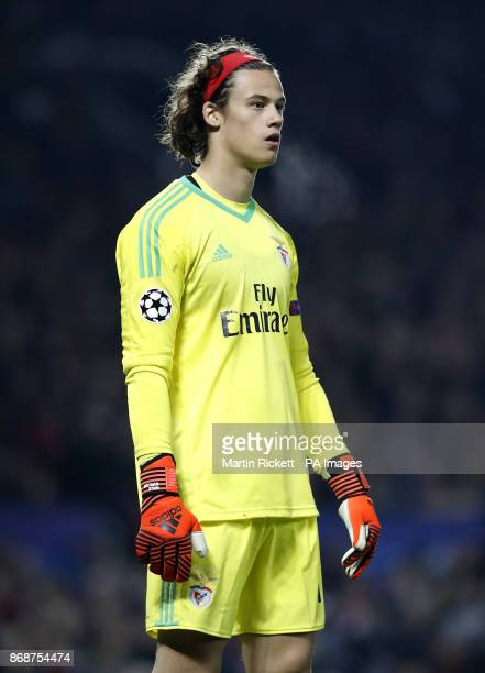 Benfica's Goalkeeper Mile Svilar during the UEFA Champions League Group A match at Old Trafford Manchester PRESS ASSOCIATION Photo Picture date...