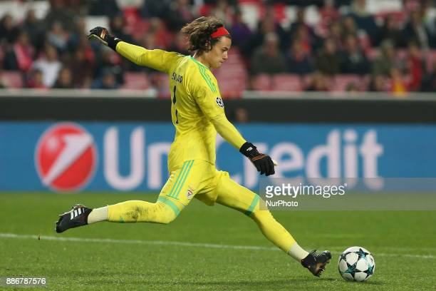 Benficas goalkeeper Mile Svilar from Belgium during the match between SL Benfica v FC Basel UEFA Champions League playoff match at Luz Stadium on...