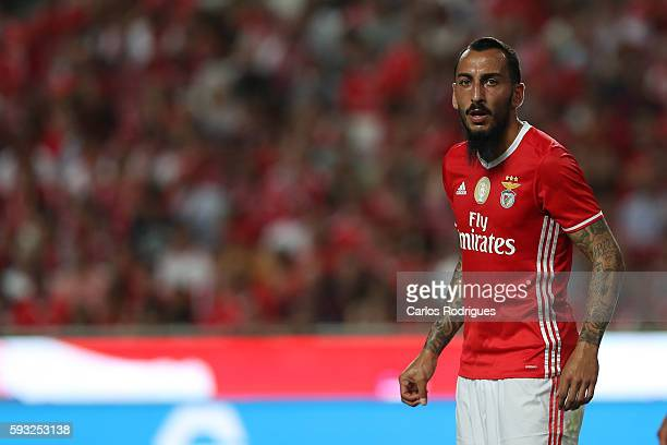 Benfica's Greek forward Kostas Mitroglou during the match between SL Benfica and Vitoria Setubal FC for the Portuguese Primeira Liga at Estadio da...